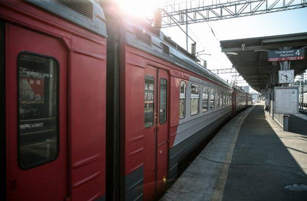 ウラジオストクの列車