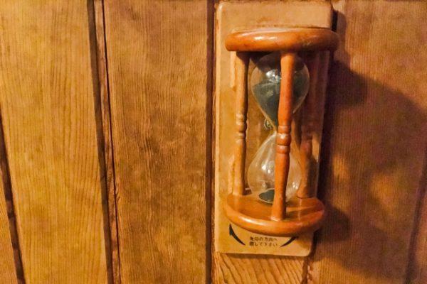 サウナの砂時計